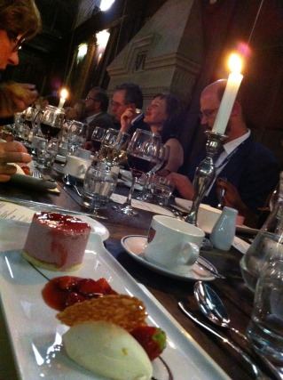 Conference Dinner in another Hogwarts Setting.