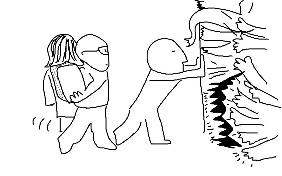 """""""Zurück, du rettest den Freund nicht mehr!"""""""